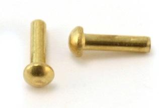 Brass R/H Rivets